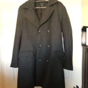 Men's grey pea coat